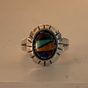 Vintage Sterling Silver Native American Ring
